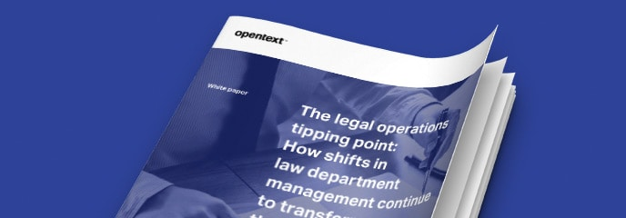 The legal operations tipping point cover image