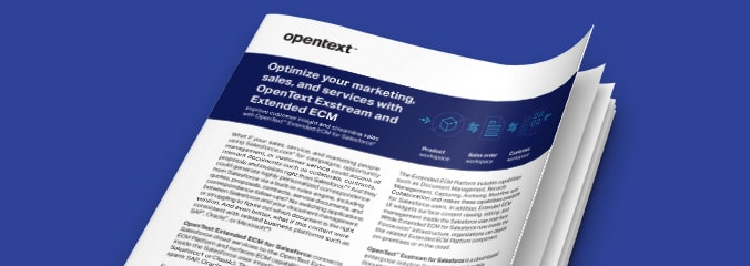 OpenText Optimize Marketing Sales Services Exstream Extended ECM thumbnail
